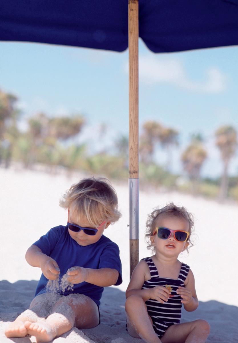 On the beach - kids!