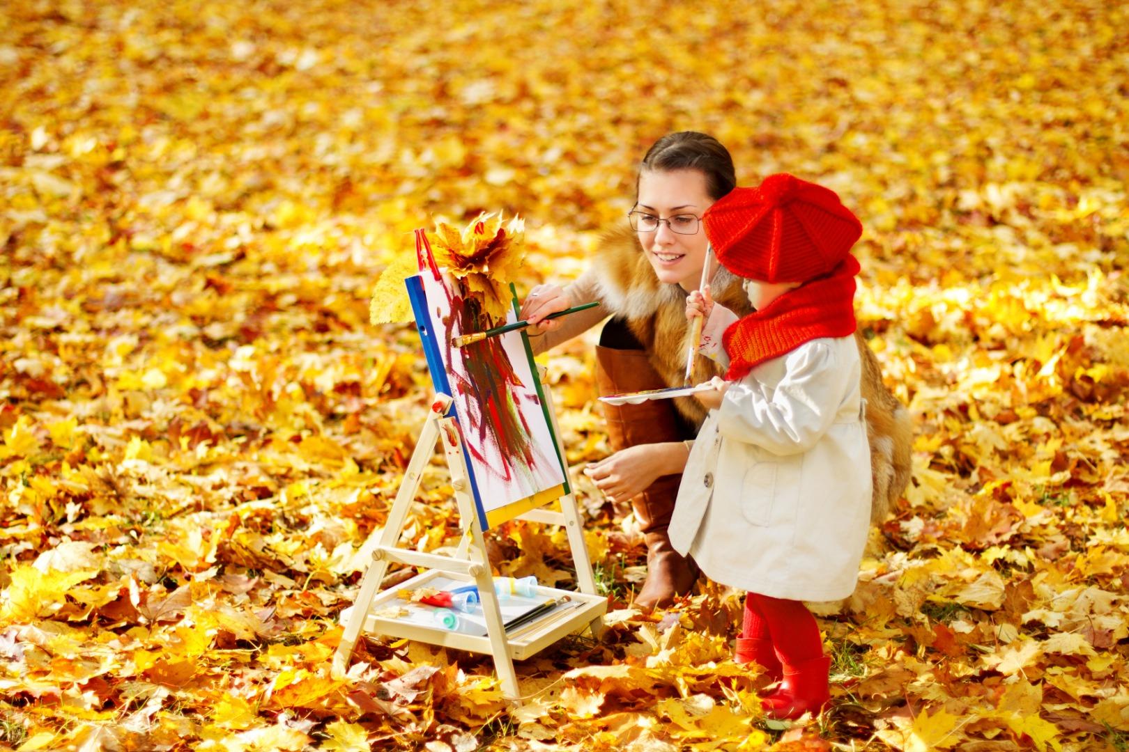 Рисуем с ребенком осень: 5 интересных способов