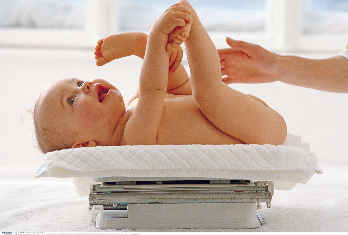 I ask on the scales: excess weight in infants