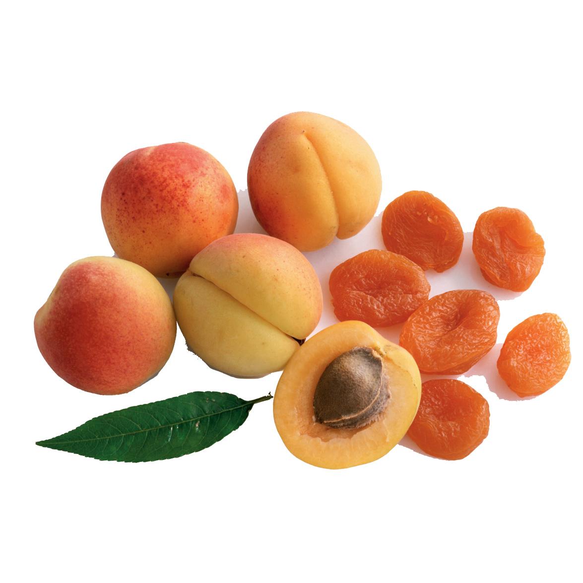 Dried apricots: half sun