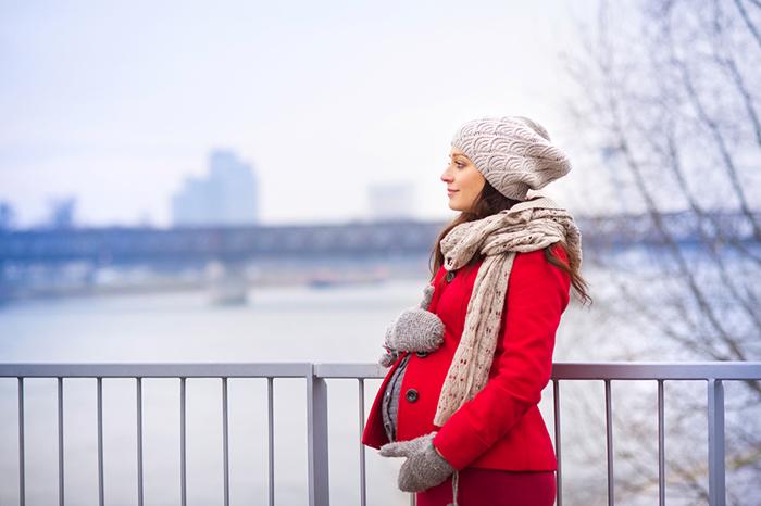 Фотосессия беременной зима
