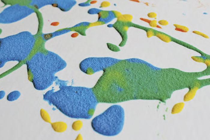 Рисование с помощью соли: пышная краска и соленая акварель