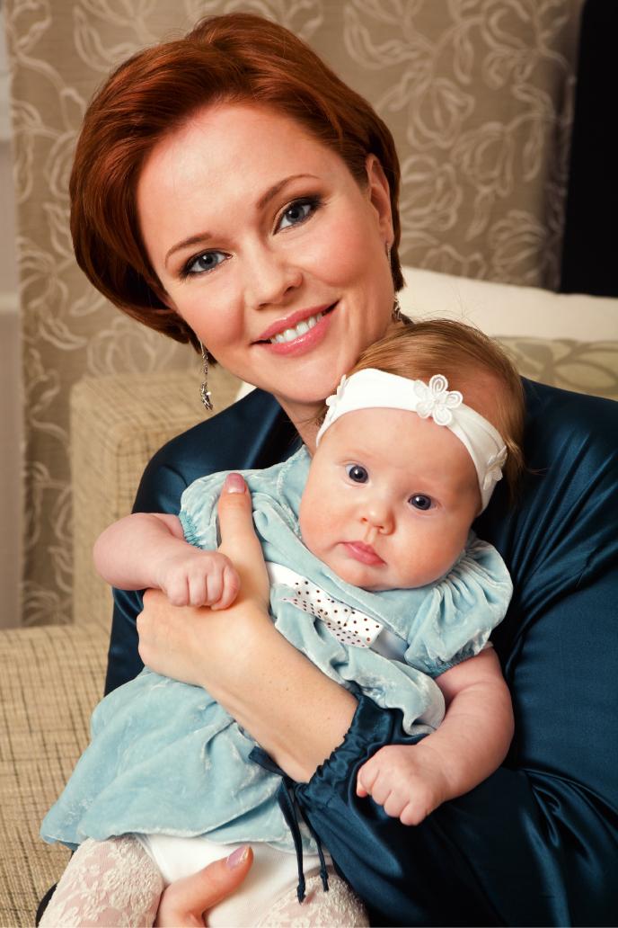 Olga Kokorekina: mamá de la princesa