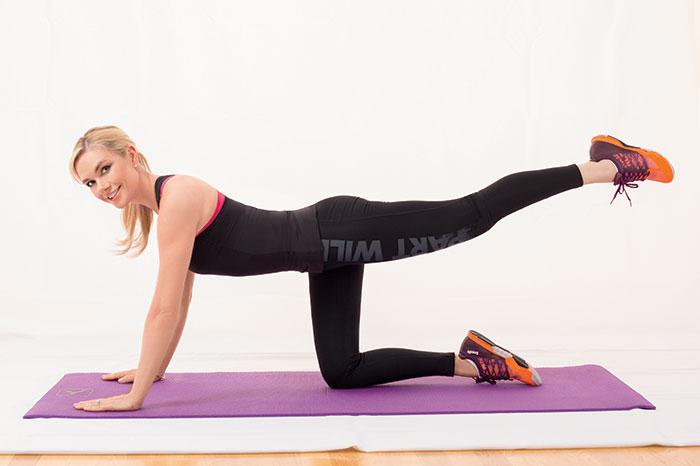 El complejo de ejercicios de la presentadora Anastasia Tregubova
