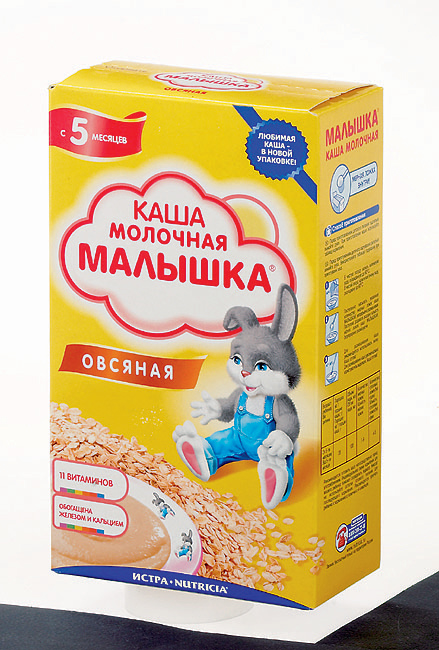 Milk porridge from the store