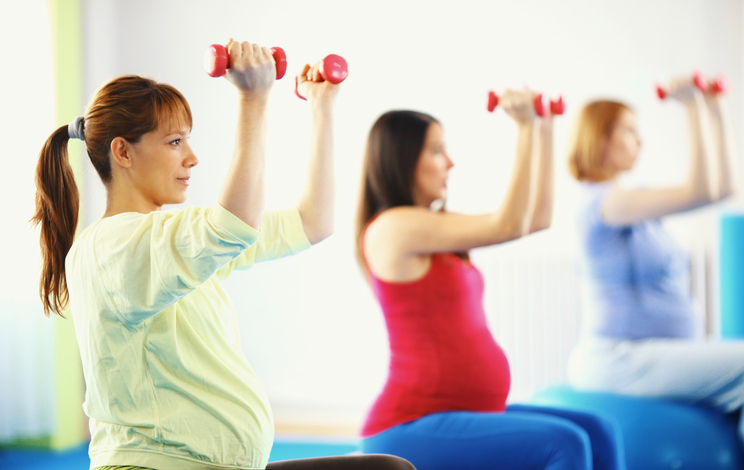 A set of exercises for pregnant women