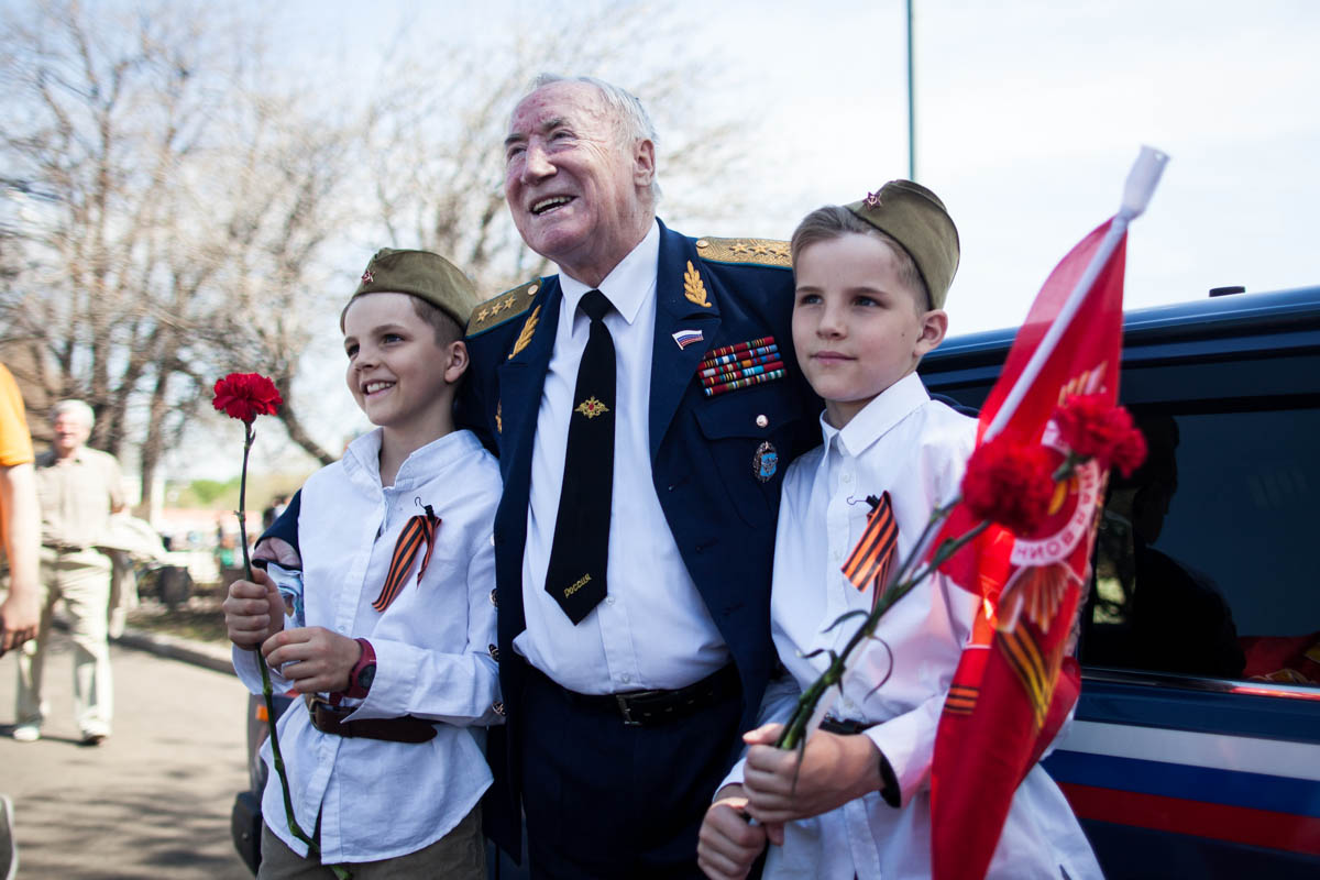May 9 in Gorky Park will congratulate the veterans