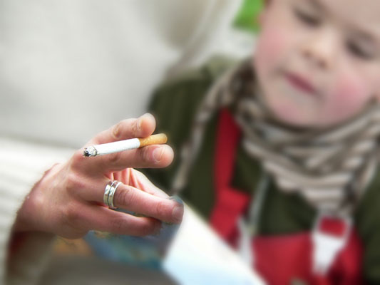 Children don't want parents to smoke