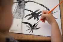 Вопрос психологу: Сын рисует папу черной краской!