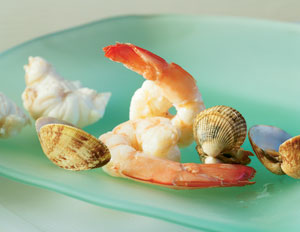 Seafood in the child's diet