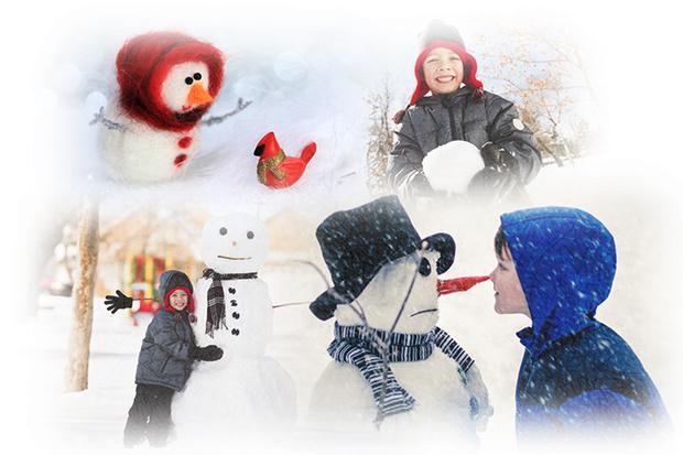 Фото №1 - Мой снеговичок